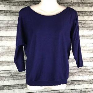Express Blue Sweater w/ Sleeve Zippers